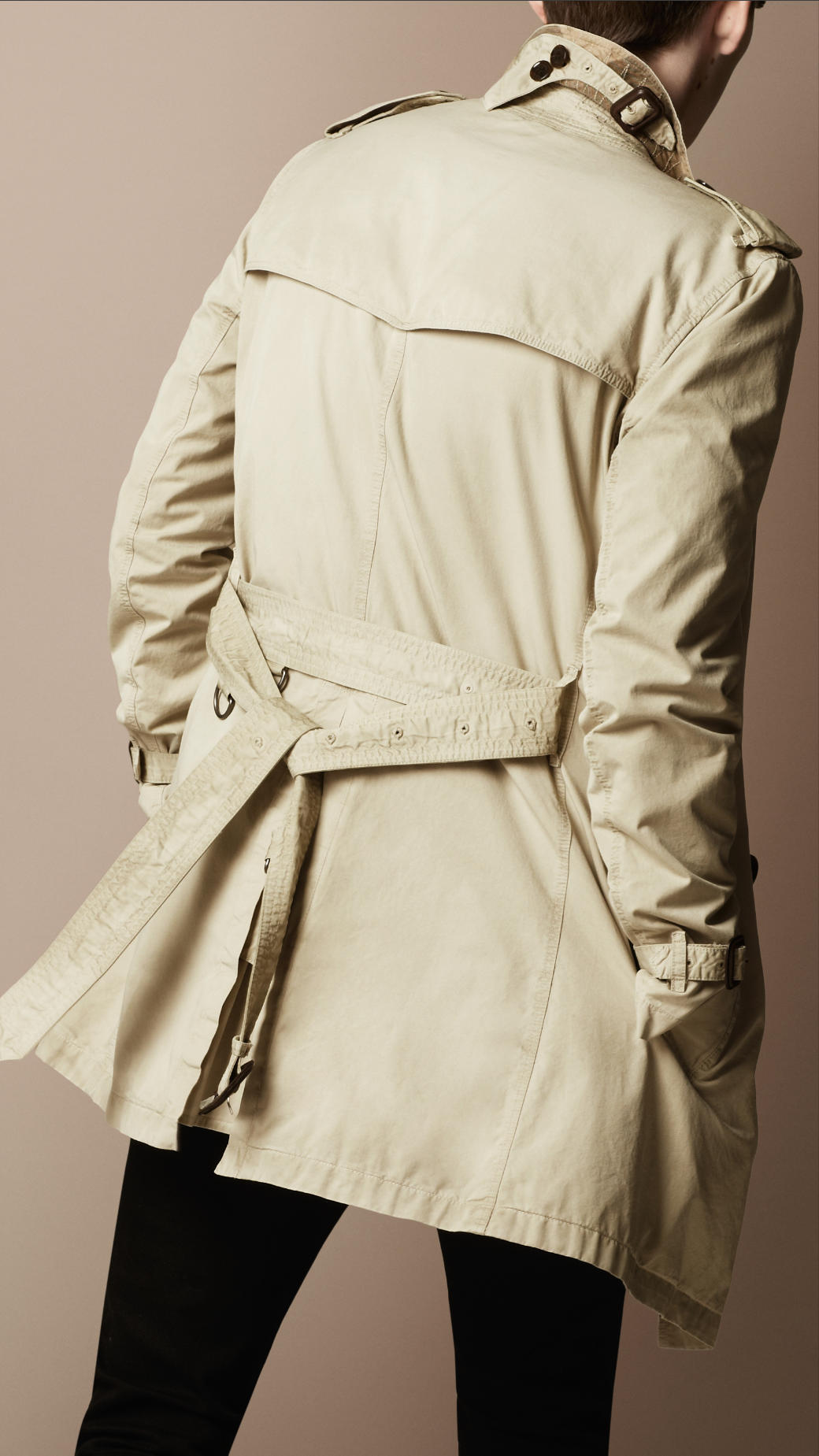 Burberry Brit Trench Overdyed Cotton Trench Coat on Color Learn Rain