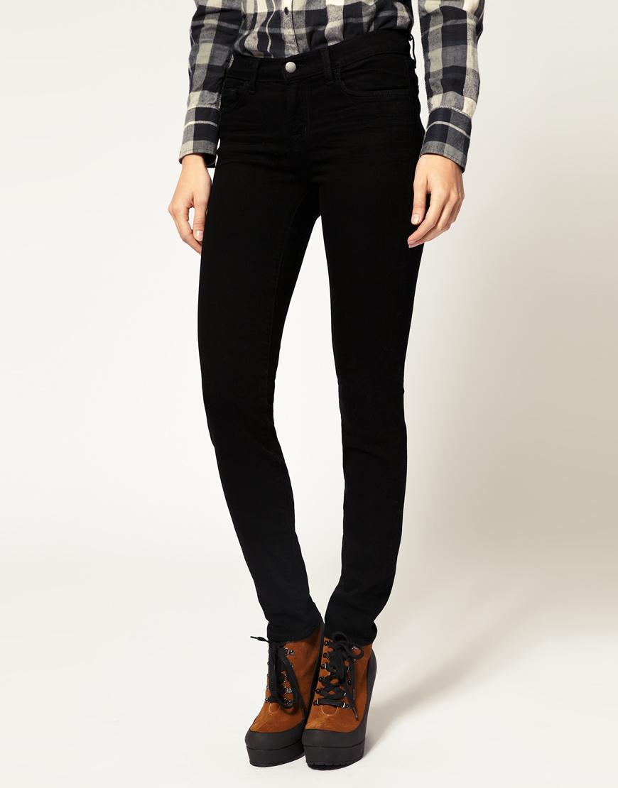 35e84d08f45c Lyst - J Brand 811 Mid Rise Ankle Skinny Jean in Black