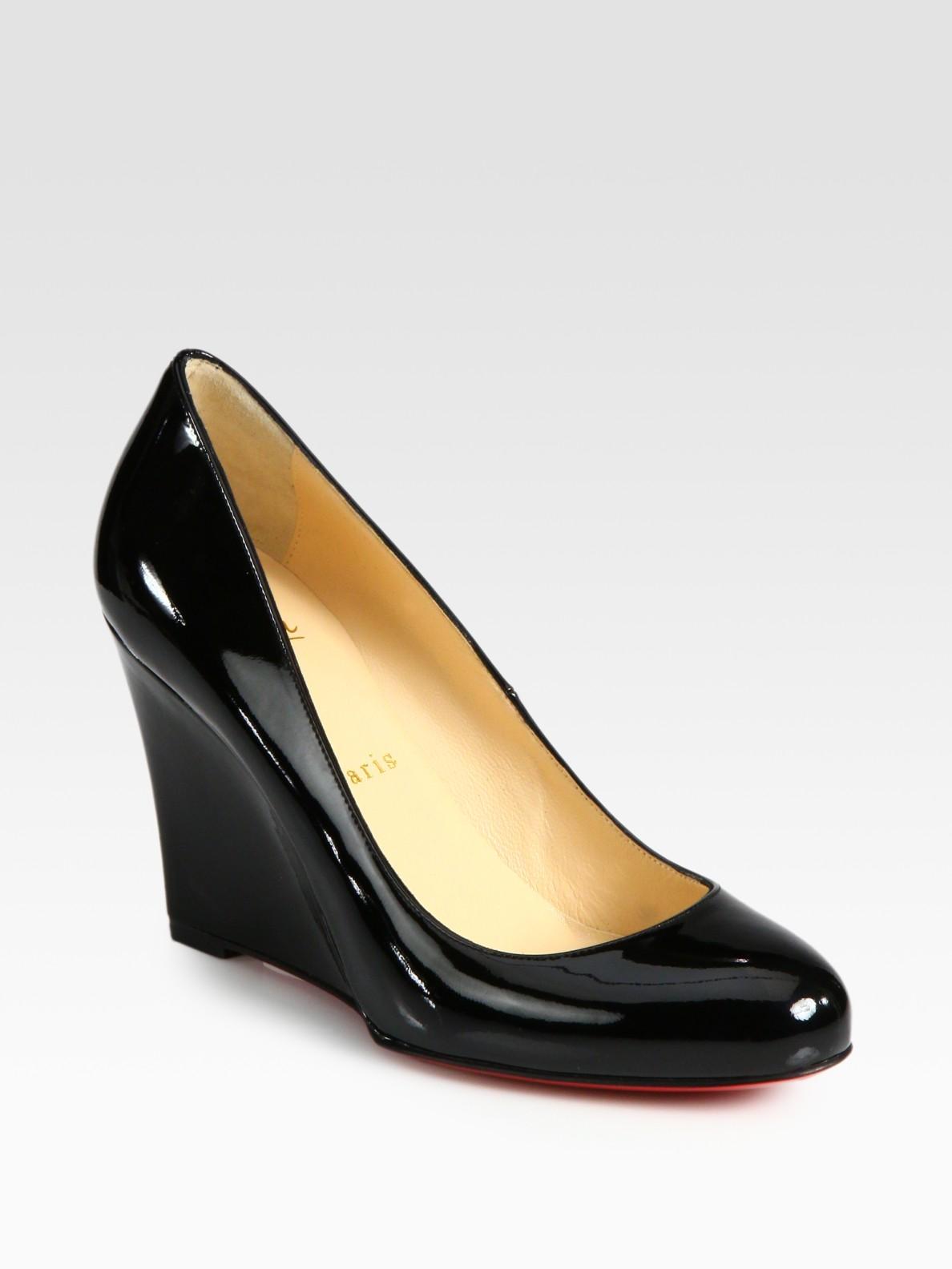 Black Patent Court Shoe Uk