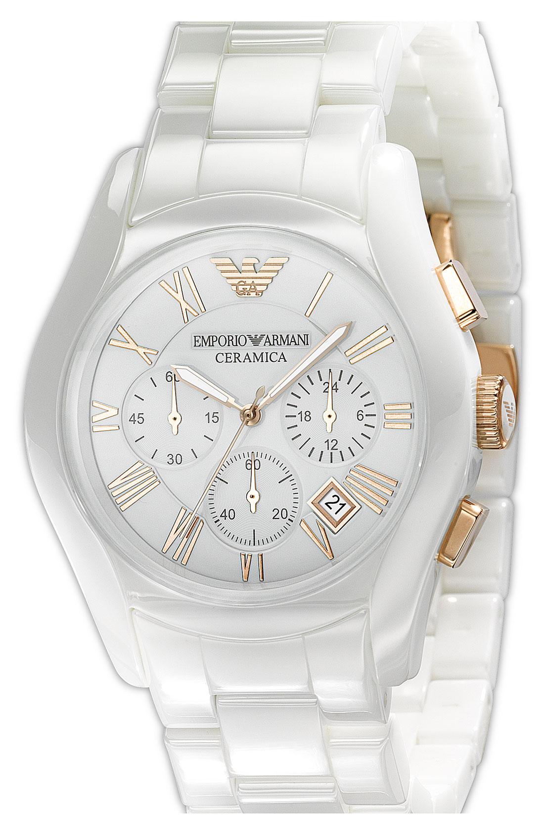 Armani White Watch For Men
