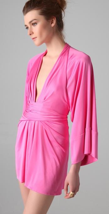 Lyst Issa Short Kimono Dress In Pink