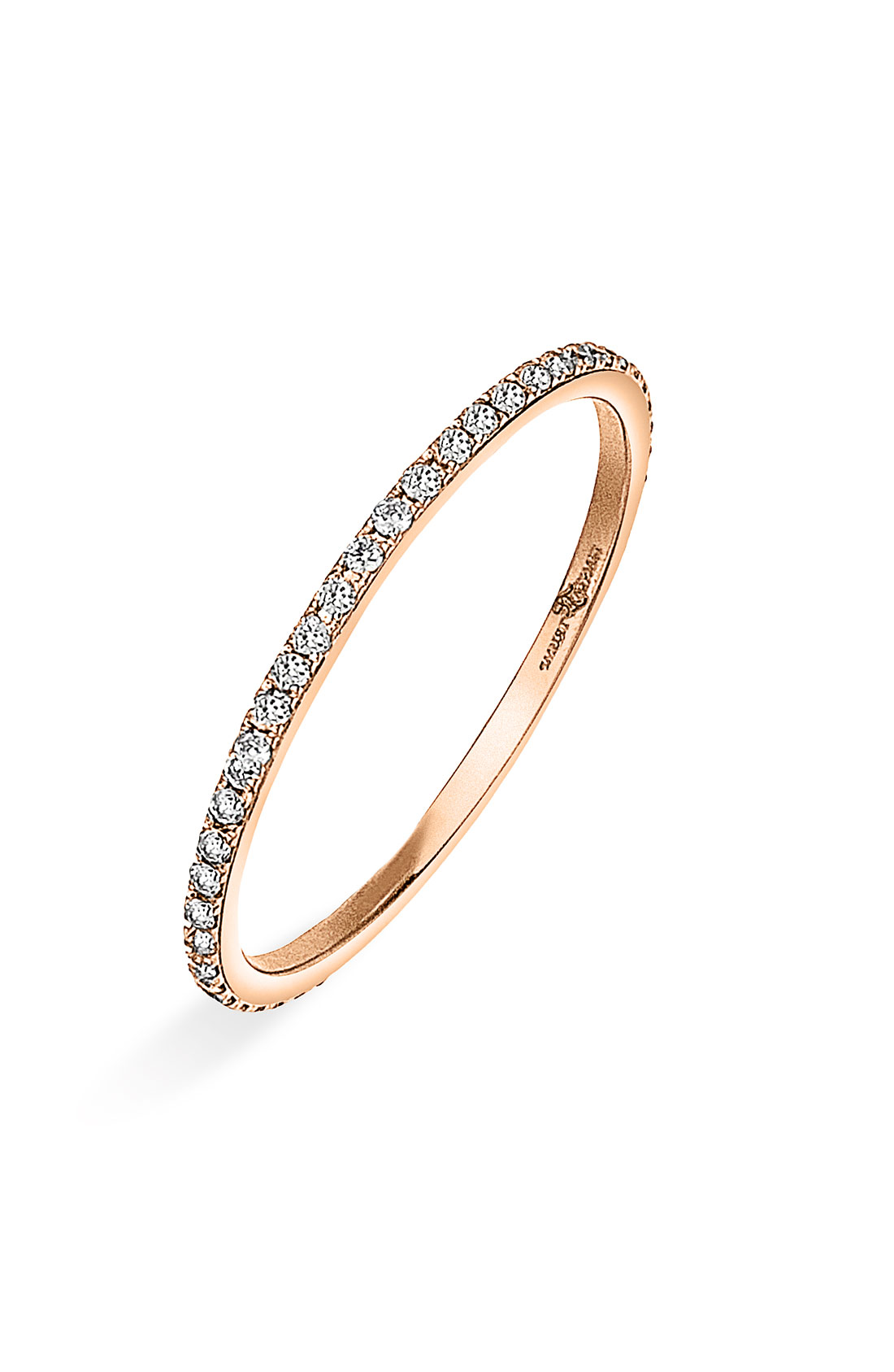 Rose Gold Ring Thin Rose Gold Ring With Diamonds