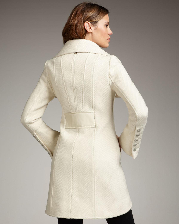 9a6069d1b7b06 Lyst - Mackage Diana Wool Coat in White