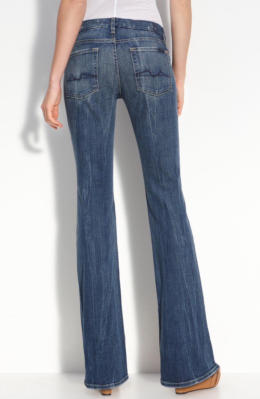 7 for all mankind lexie kimmie boot cut jeans in blue lyst. Black Bedroom Furniture Sets. Home Design Ideas
