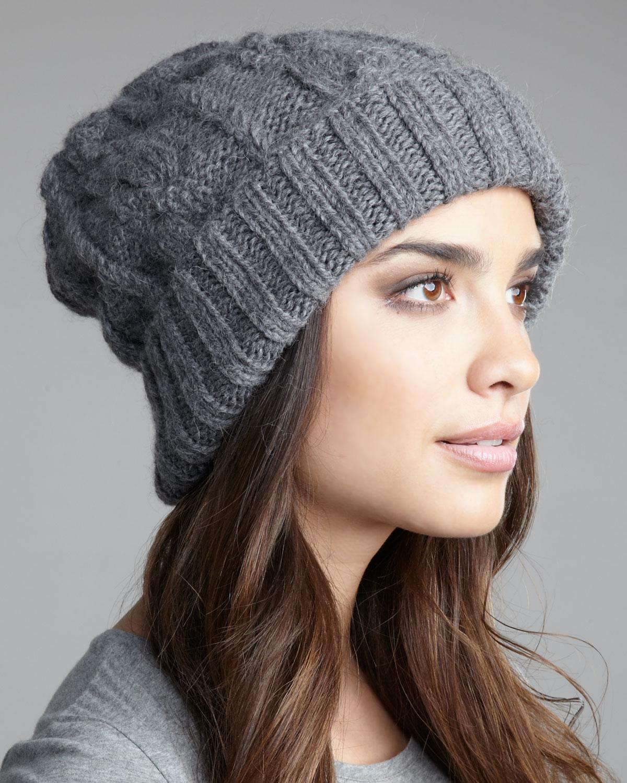 Lyst - Eugenia Kim Jill Hand-knit Slouchy Beanie in Gray 07db737322e