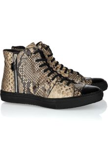 Georgina Goodman Snake-embossed Leather Sneakers - Lyst