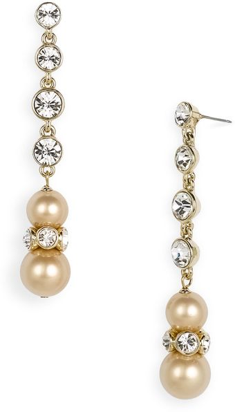 Givenchy Aqua Linear Glass Pearl Earrings - Lyst