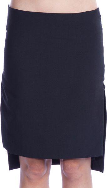 Haider Ackermann Asymmetric Hem Skirt in Black