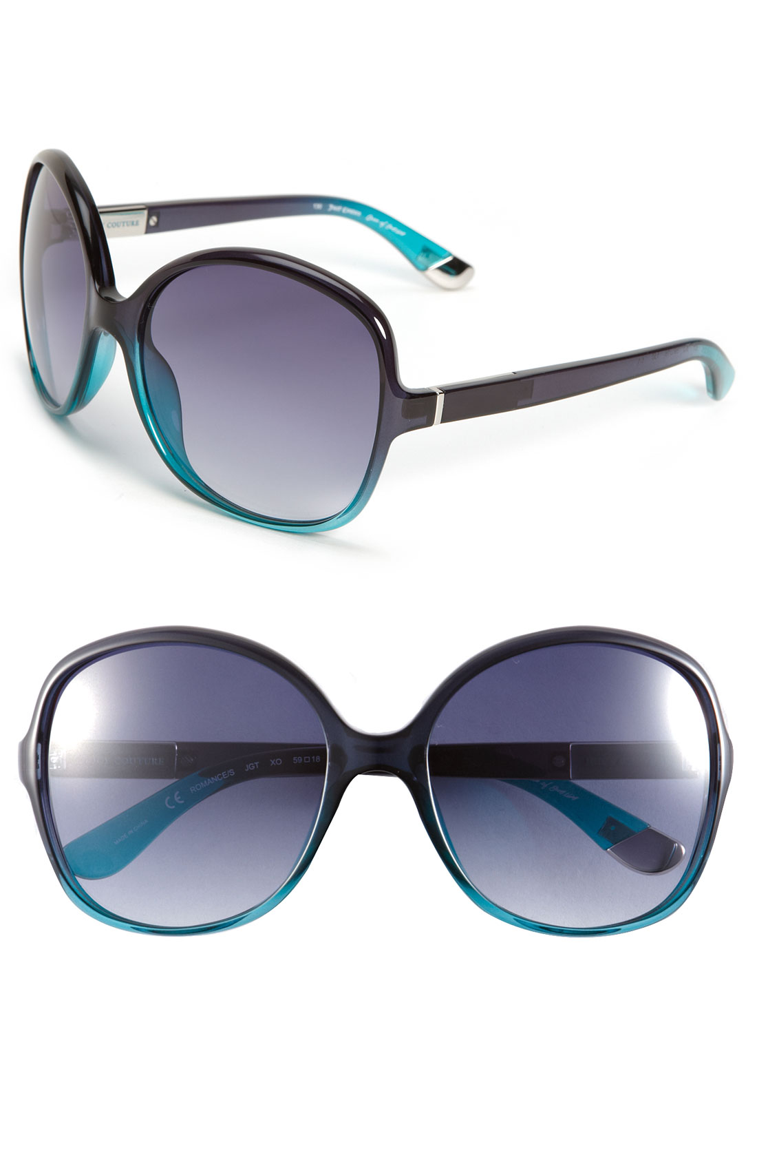 Juicy Couture Oversized Sunglasses in Blue (navy teal)   Lyst