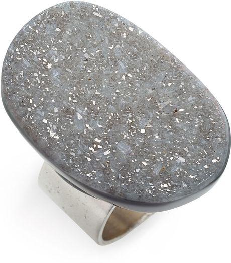 Liz Larios Jewelry Silver Ochoco Agate Ring in Silver (black and silver)