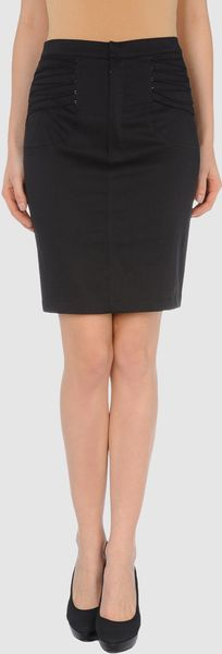 Pf Paola Frani Knee Length Skirt in Black (blue) - Lyst