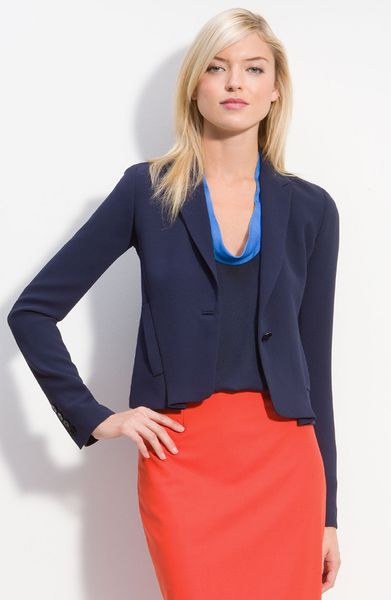 Rachel Roy Draped Back Blazer in Blue (deep sea blue)
