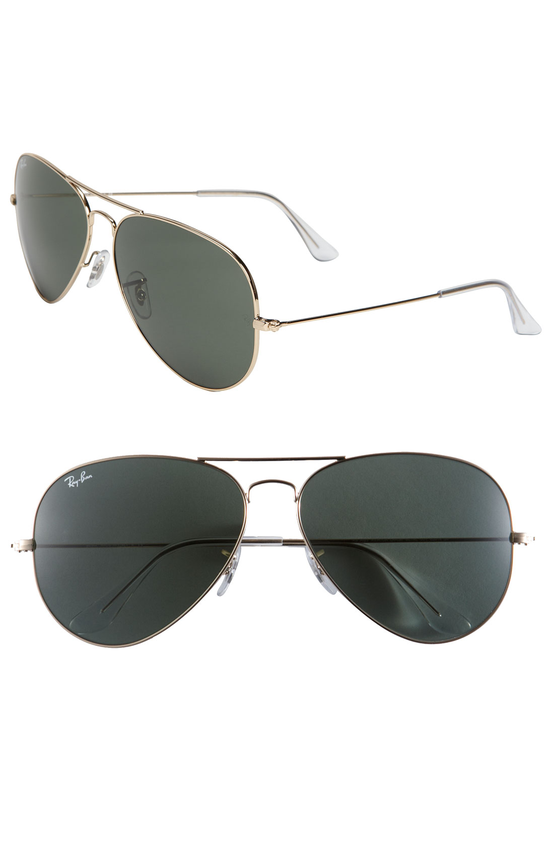 Ray Ban Large Original Aviator 62mm Sunglasses In Gold