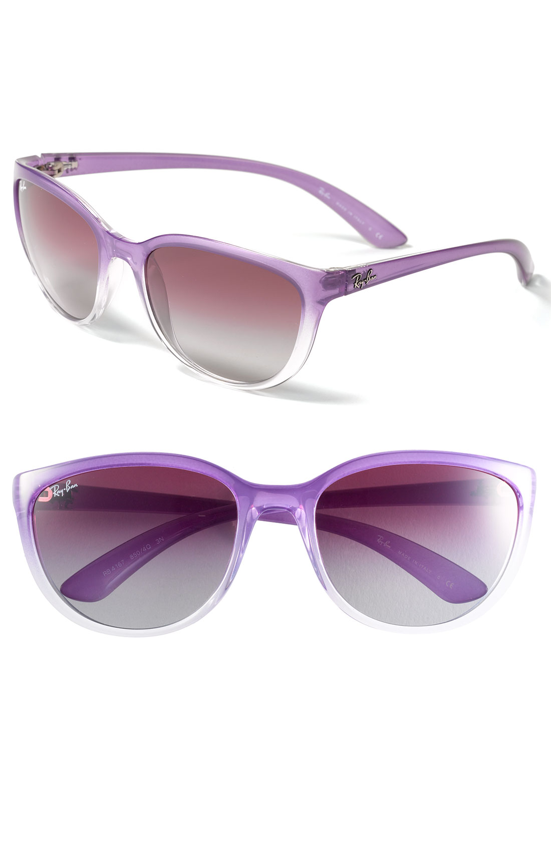 ray ban cats eye sunglasses in purple purple gradient lyst. Black Bedroom Furniture Sets. Home Design Ideas