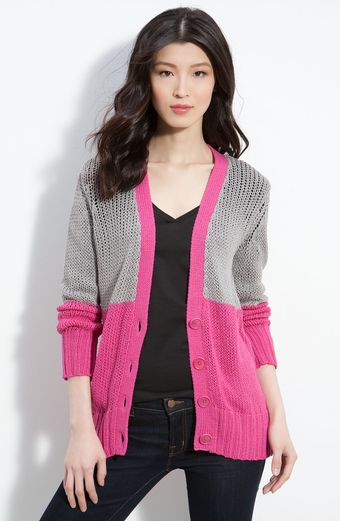 Trouvé Loose Knit Colorblock Cardigan - Lyst
