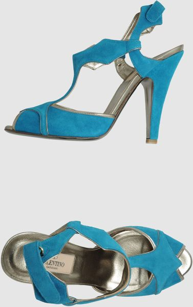 Valentino Highheeled Sandals in Blue