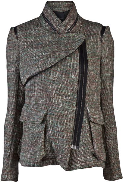 Yigal Azrouel Tweed Jacket in Gray (multi)