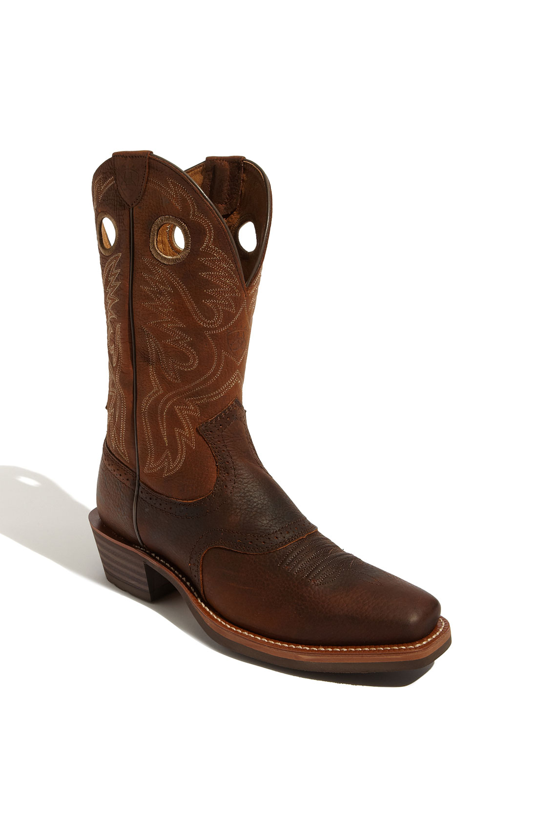 ariat heritage roughstock boot in brown for