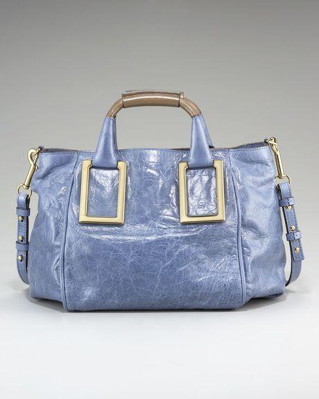 Chloé Ethel Satchel, Medium in Blue