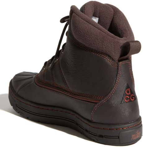 nike woodside hiking boot in brown for oxen brown lyst