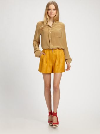 3.1 Phillip Lim Band Collar Blouse - Lyst