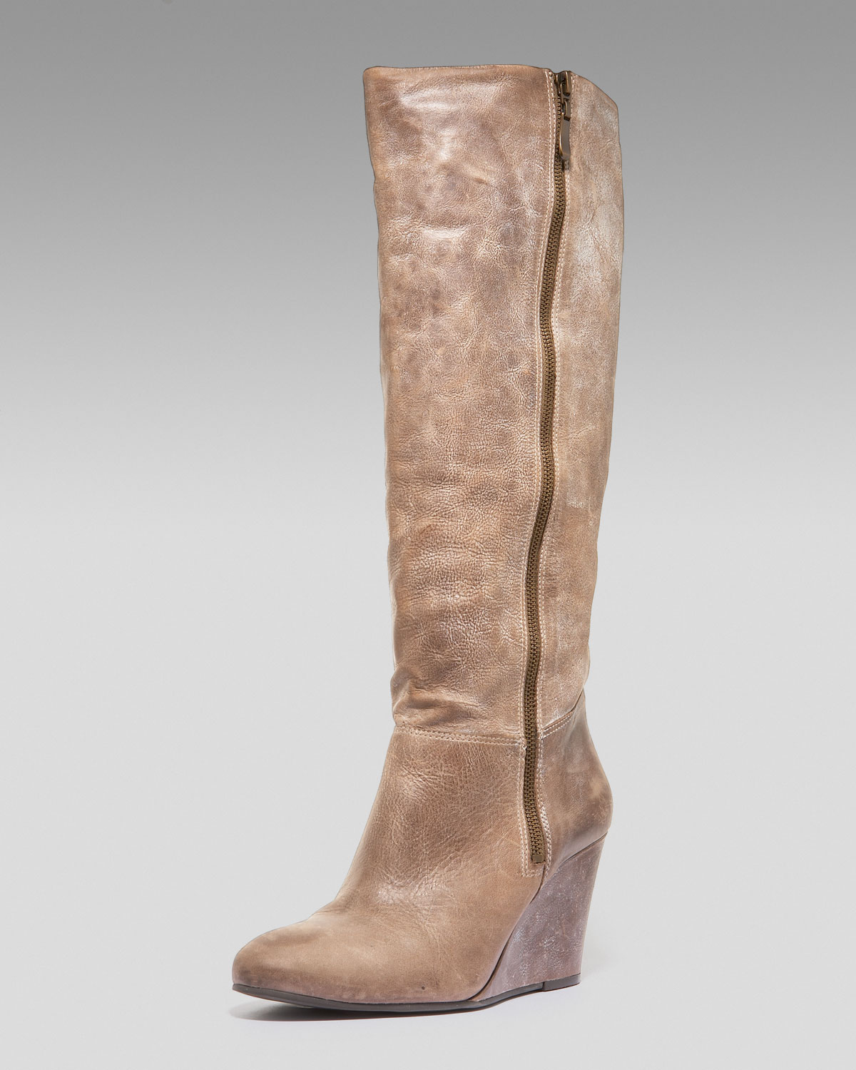 steven by steve madden meteour wedge boots in beige