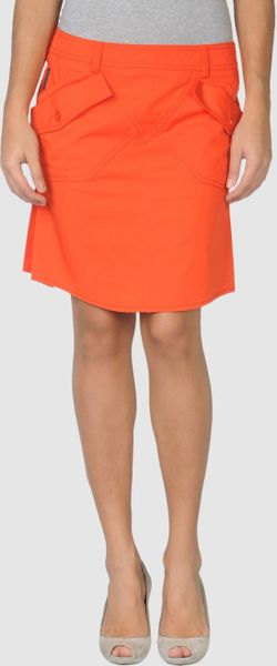 Armani Jeans Knee Length Skirt in Orange (rust)