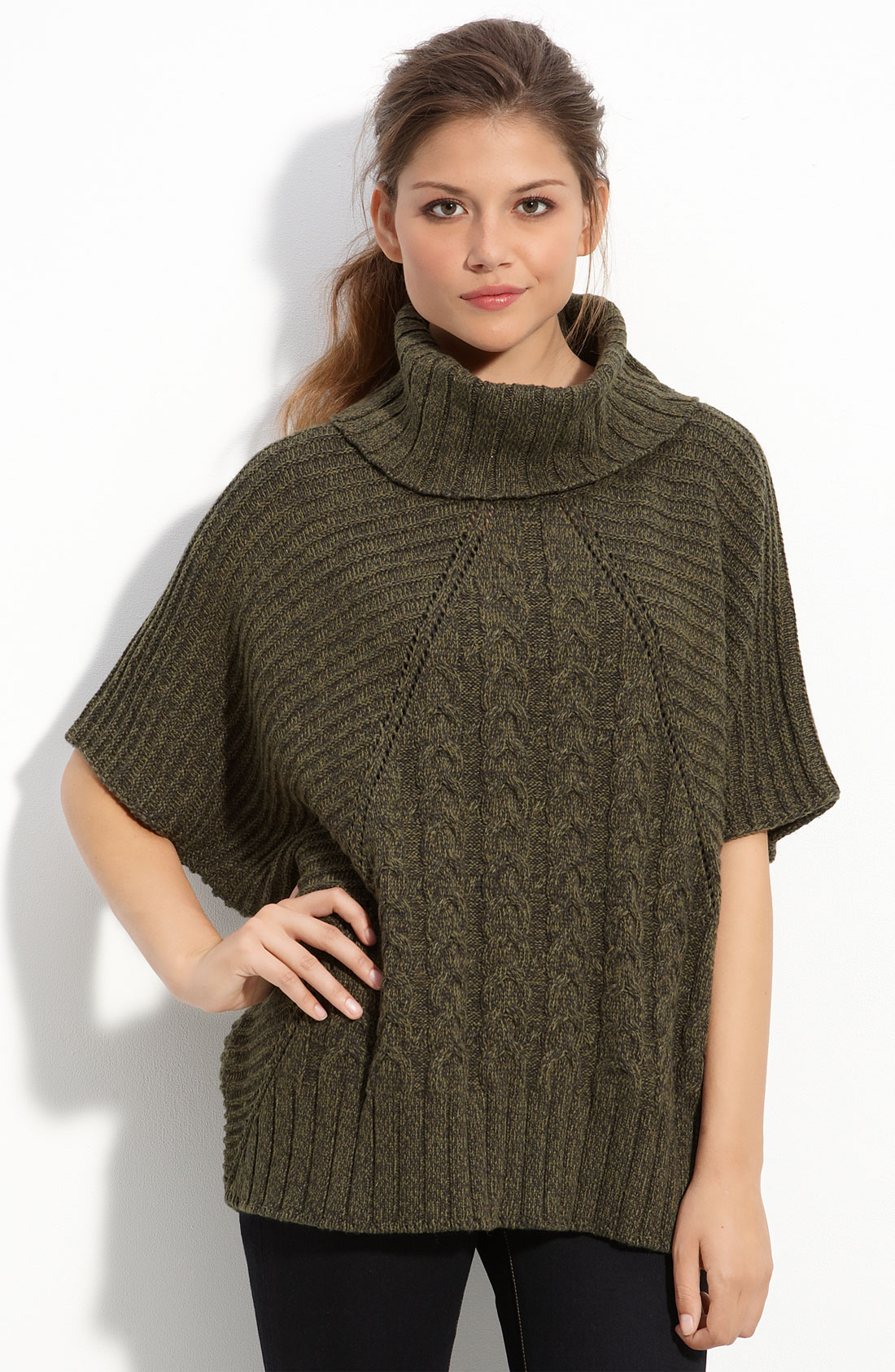 Turtleneck Poncho Sweater | Dress images