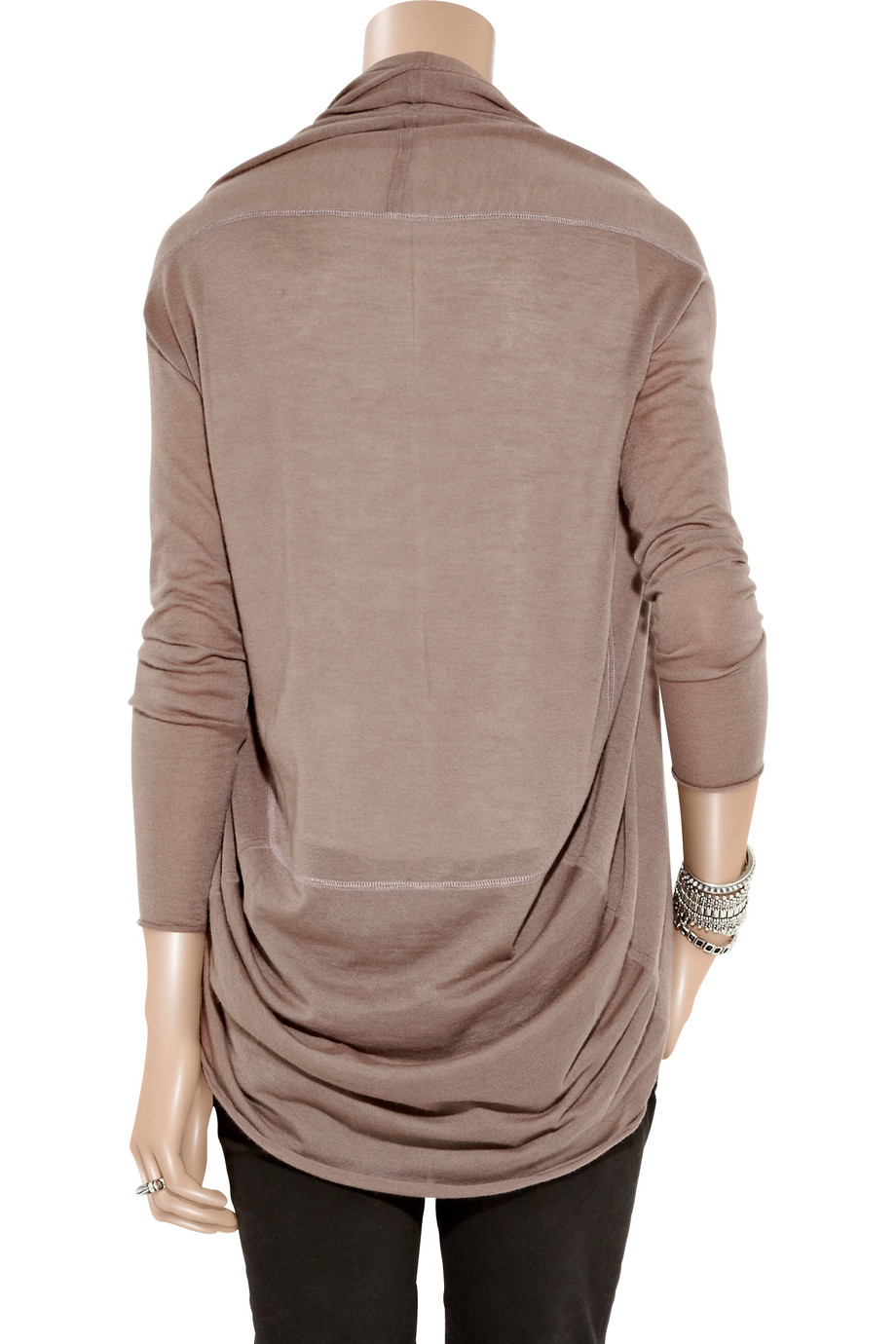 Duffy Cashmere Cocoon Cardigan in Brown | Lyst