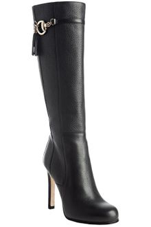 Gucci  Leather Sienna Horsebit Tassel Tall Boots - Lyst