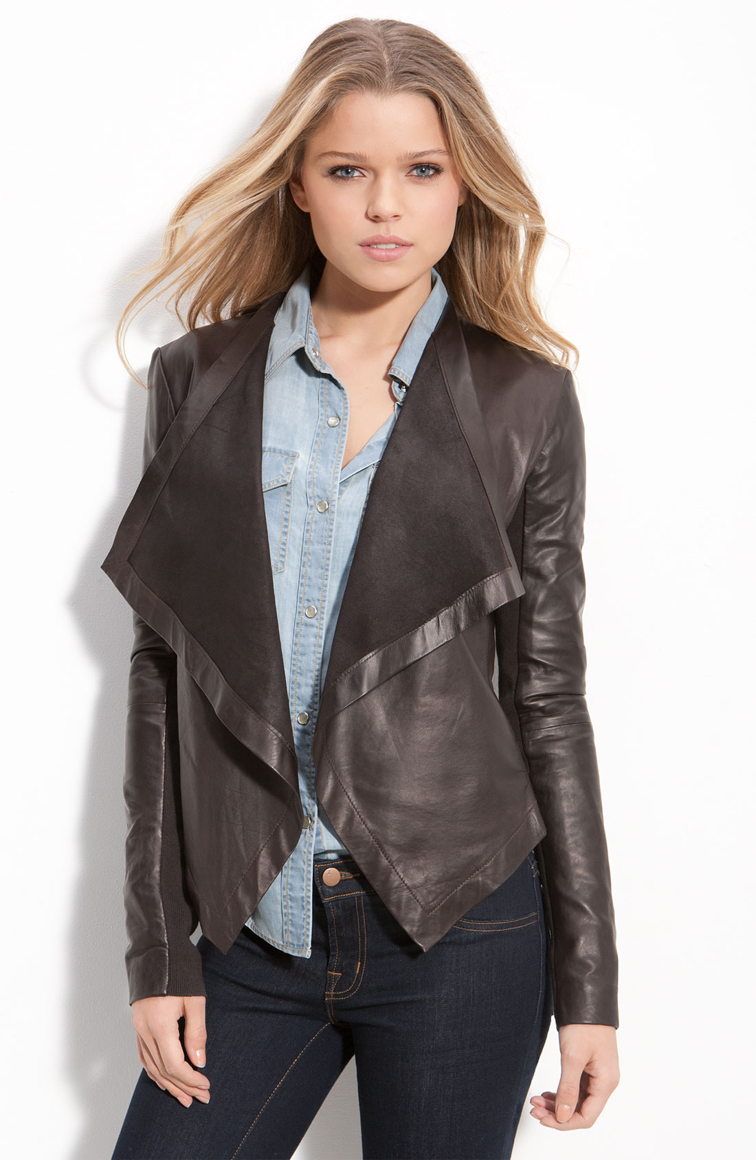 Waterfall leather jackets