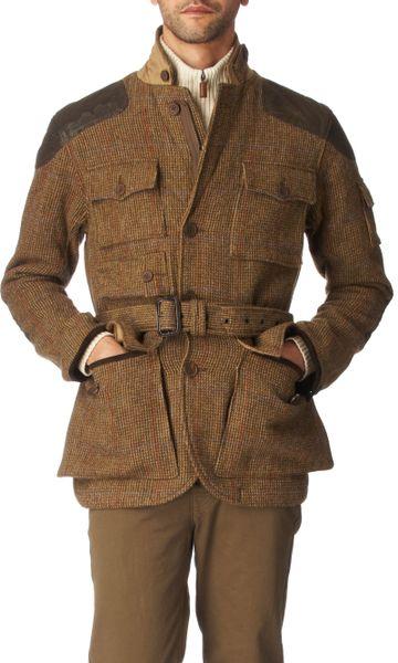Ralph Lauren Irvine Tweed Jacket In Beige For Men Lyst