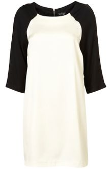 Topshop Constrast Sleeve Shift Dress - Lyst