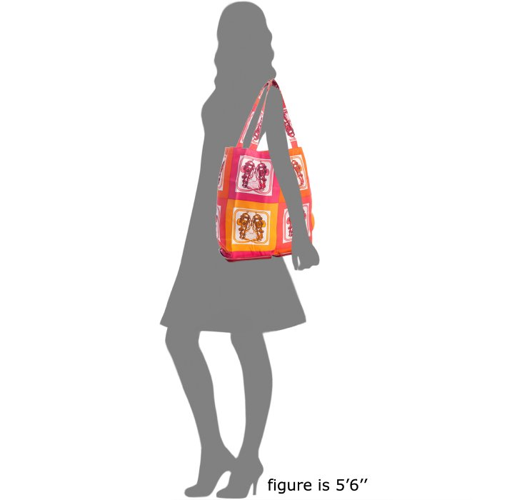 Herm��s Red Printed Silky Pop Silk Collapsible Tote in Multicolor ...