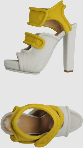 Balenciaga Platform Sandals in Yellow