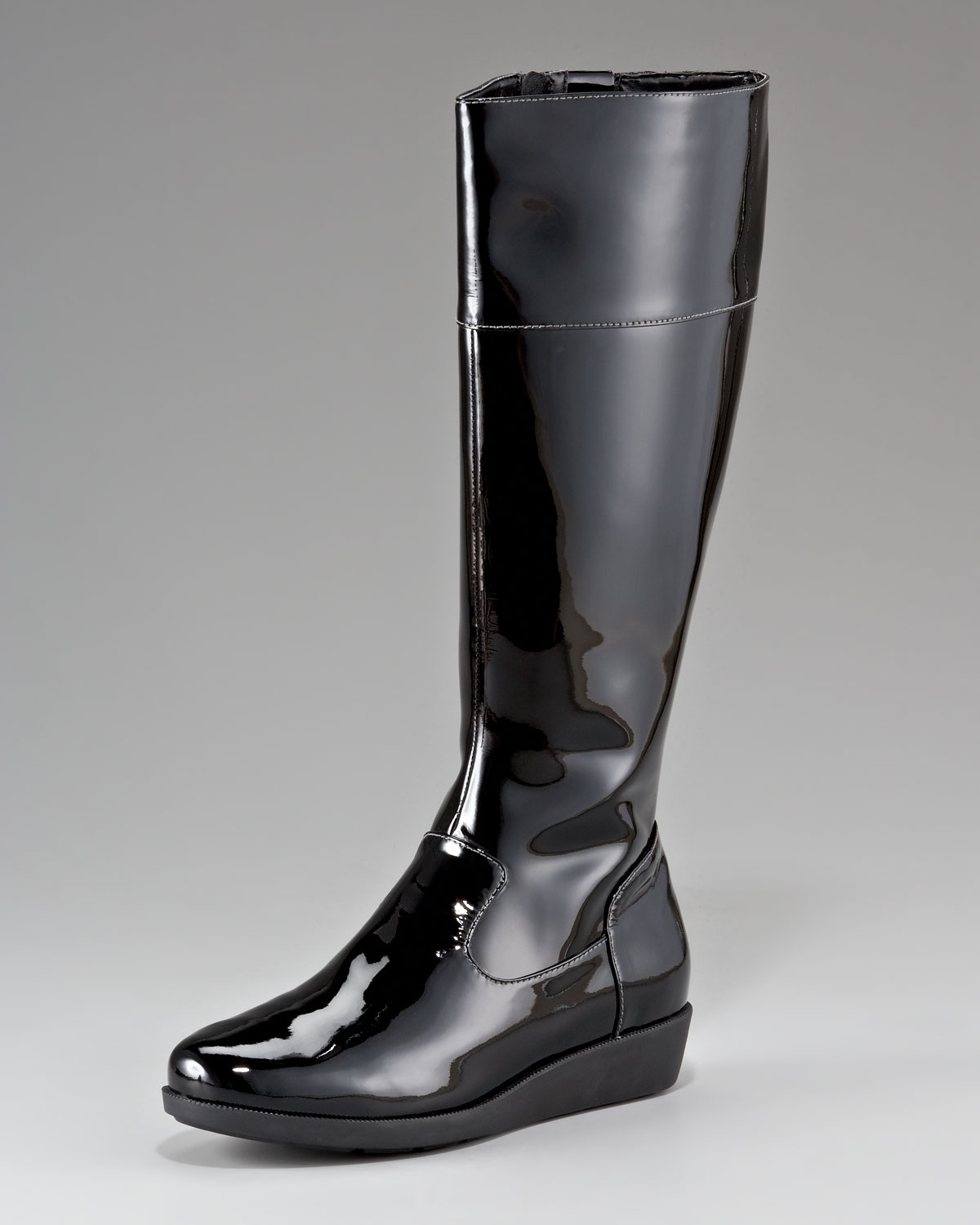 cole haan low wedge boot in black lyst