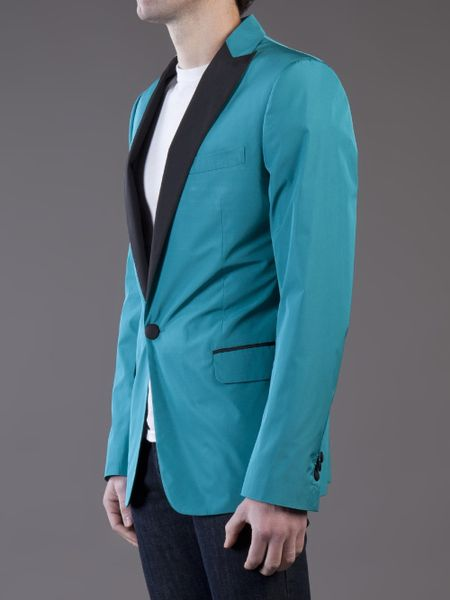 Dsquared 178 Tux Jacket In Blue For Men Teal Lyst
