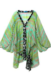 Matthew Williamson Escape Neon Stripe Silk Kaftan - Lyst