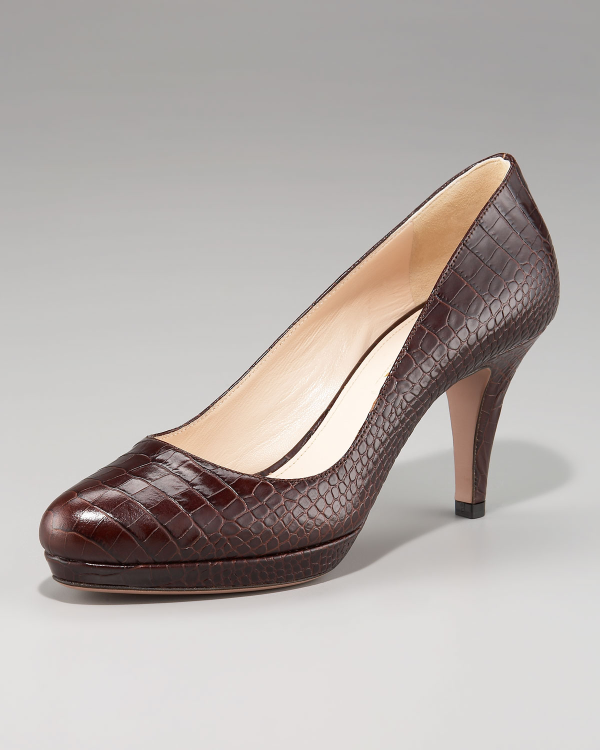 outlet shop offer cheap for cheap Prada Alligator Platform Pumps perfect discount very cheap YpJAE