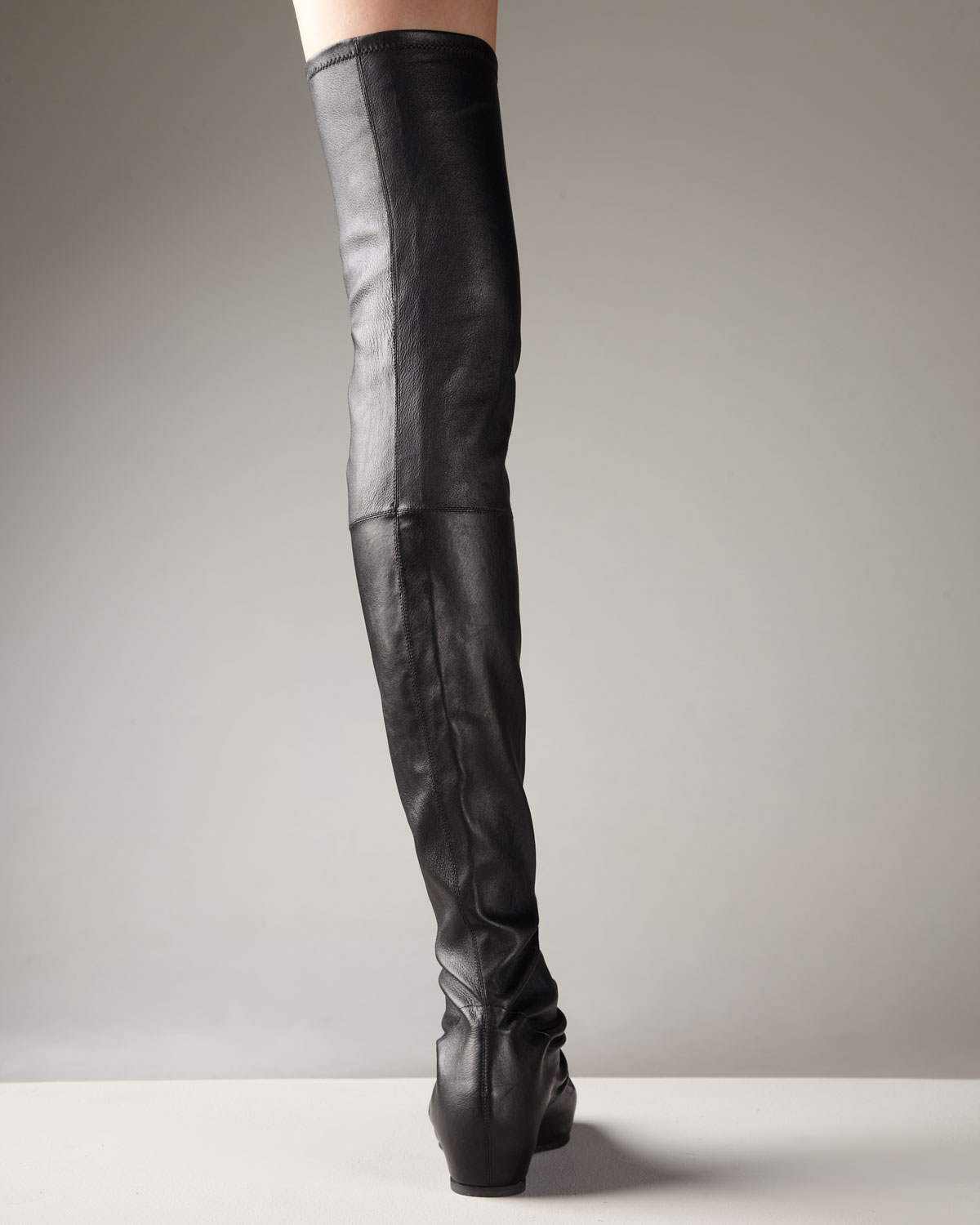 Rick Owens Over-The-Knee Wedge Boots cheap top quality fashion Style online JUWn3X5