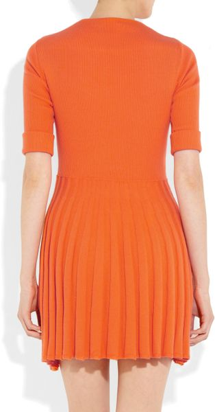 See By Chlo 233 Ribbed Sweater Dress In Orange Lyst