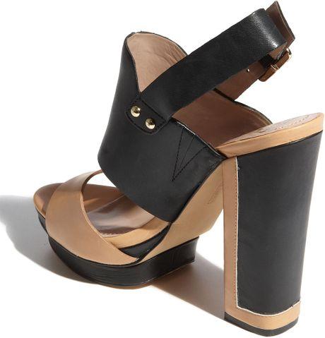 Vince Camuto Persh Sandal In Brown Tan Black Lyst