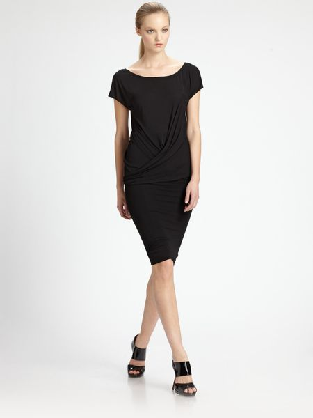 Donna Karan New York Double Layer Skirt in Black - Lyst
