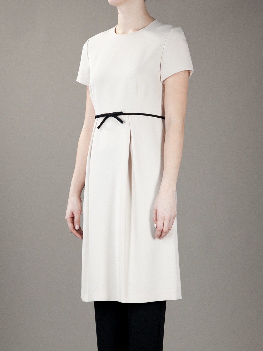 max mara studio verace dress in white lyst. Black Bedroom Furniture Sets. Home Design Ideas