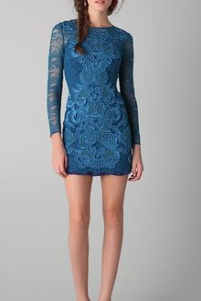 Matthew Williamson Long Sleeve Lace Dress - Lyst