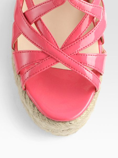 Boutique 9 Strappy Leather Espadrille Wedge Sandals In