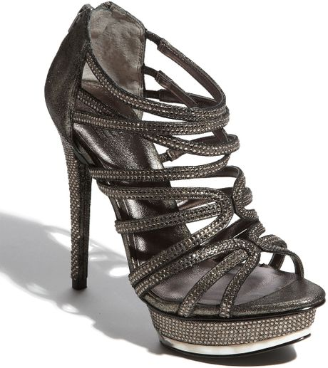 Pelle Moda Augusta Sandal in Silver (pewter) - Lyst