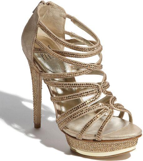 Pelle Moda Augusta Sandal in Gold (platinum gold) - Lyst