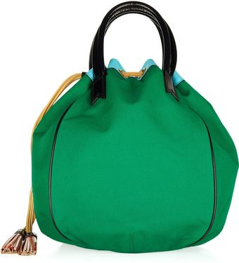 Meredith Wendell Color-blocked Canvas Bucket Tote - Lyst
