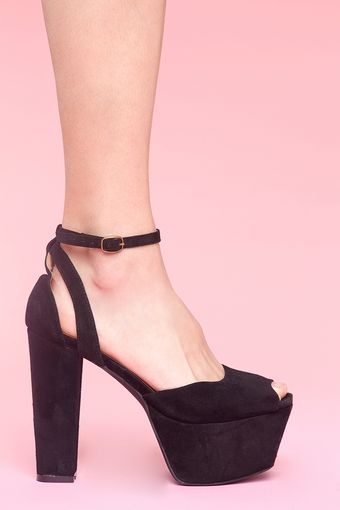 Nasty Gal Perfect Platform - Black Suede - Lyst